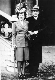 Madelaine et Edouard en 1943, à peine marié civilement.