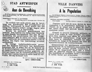 Avis à la population d'Anvers