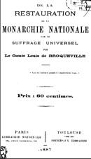 Bibliographie de Louis de Broqueville (1829-1895)