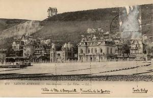 La Villa Roxane à gauche du ministère de la guerre