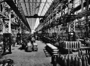 Usine de fabrication des obus à Bertley (Angleterre)