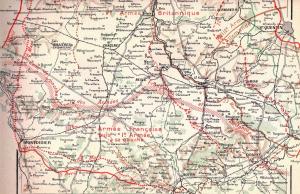 L'avancée allemande vers Montdidier.