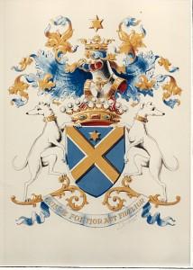 Armoiries Broqueville officielle en Belgique depuis 1867