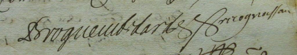 Signature de Jean Ier d'Endardée