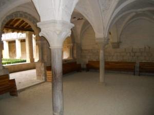 Abbaye de Flaran : La salle où l'on a droit au chapître !