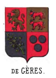 Armoiries de la Maison de Gères