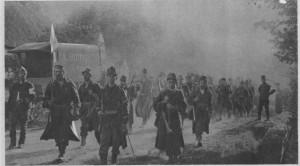 Troupes belges à Saint-Trond en 1914