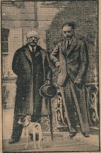 Henri Cochin et Charles de Broqueville au château du Weez à Saint-Pierrebroeck.