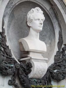 Buste de Lamartine à Bergues.