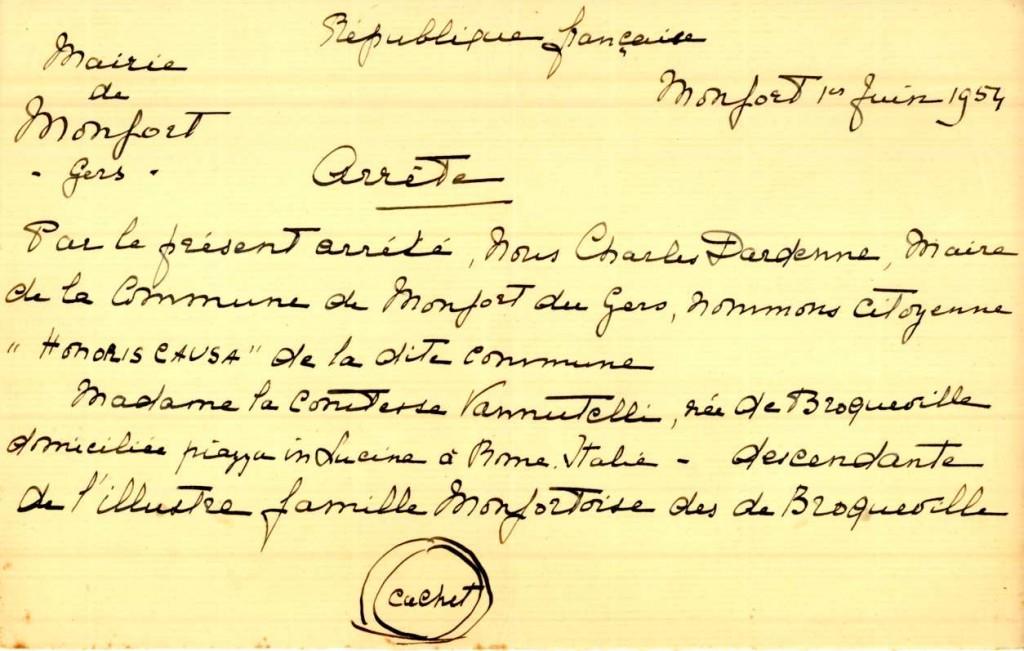 L'arrêt de M. Dardenne, maire de Monfort