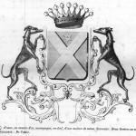 Les armoiries des Broqueville français de 1890