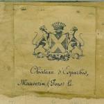 Ex-libris de Louis de Broqueville au château d'Esparbès.
