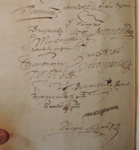 Pacte de mariage de Guillaume Labaule et Marguerite Broqueville