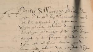 Pacte de mariage de Jean Lauzéro et Blasiette Mauchet