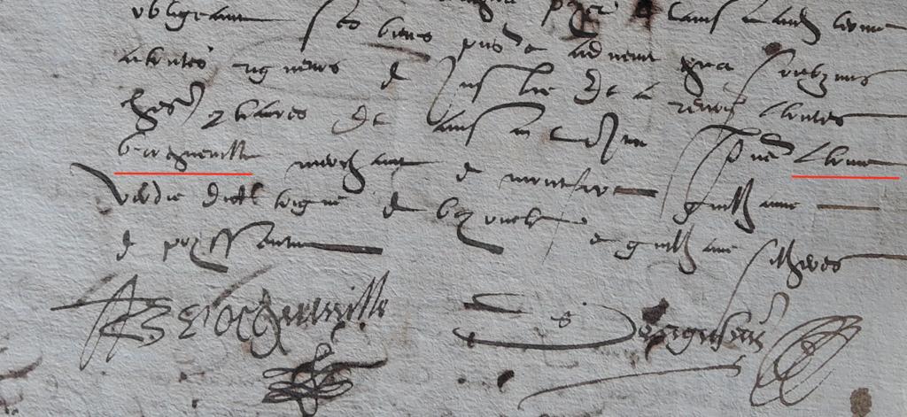Antoine Broqueville signe en 1581 !