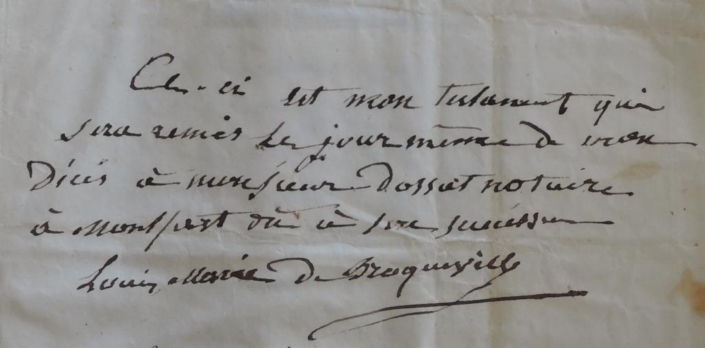 Les 5 testaments de Louis Marie de Broqueville